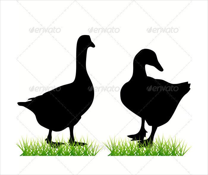 Goose Silhouette Design
