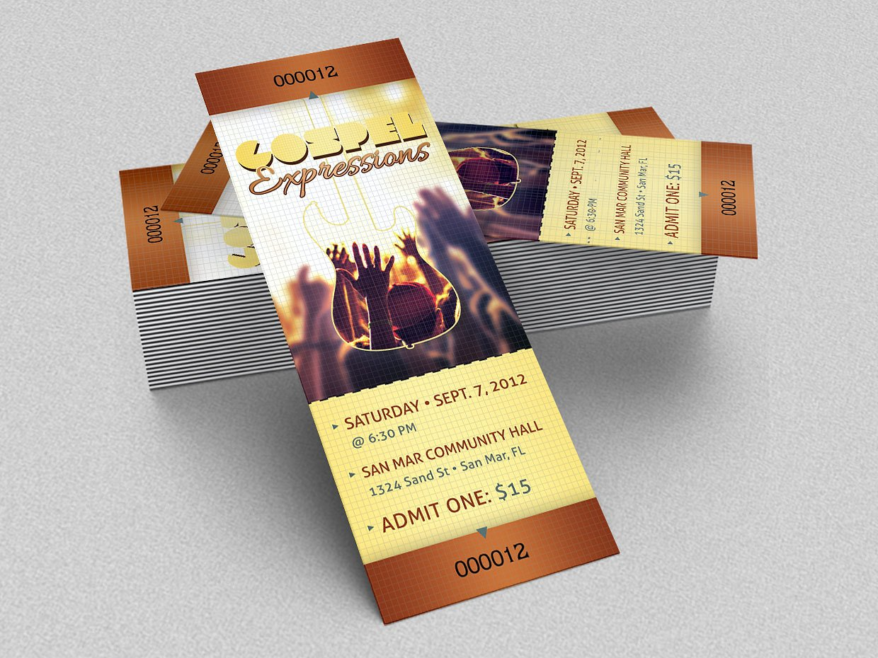 15+ Concert Ticket Templates | Design Trends - Premium PSD ...