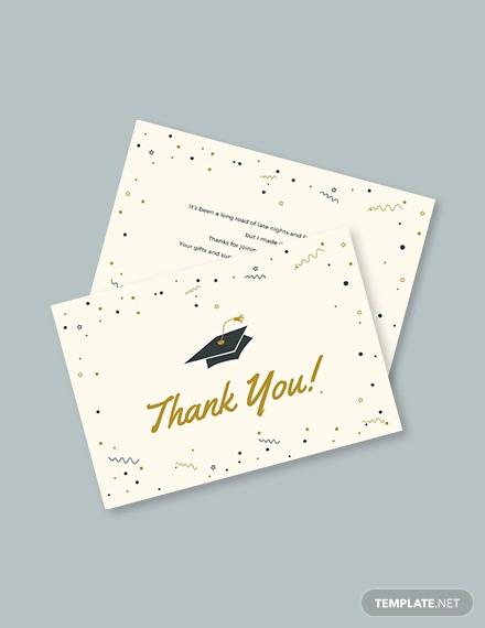 graduation thank you card template