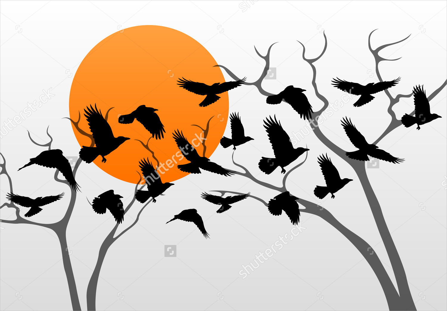 9 Crow Silhouette Designs - Vector, EPS Format Download ...