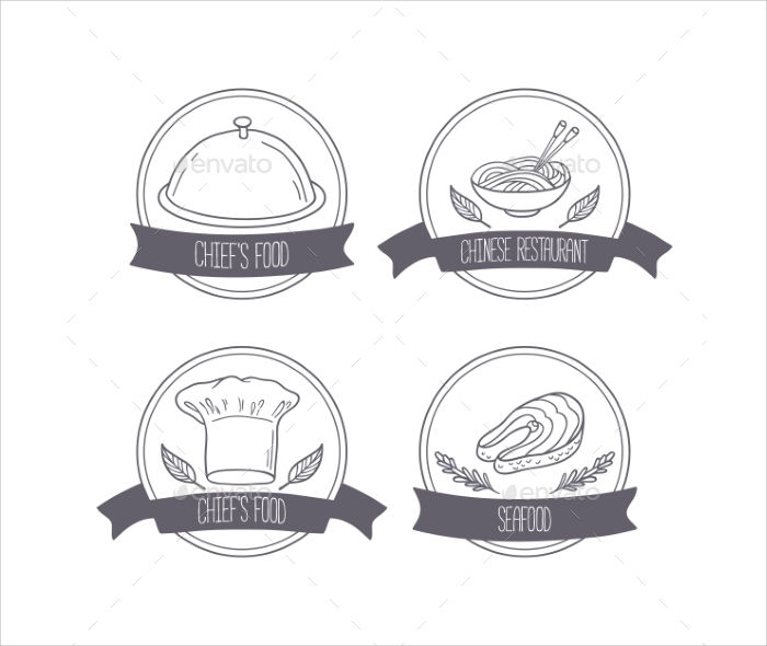 hand drawn food labels