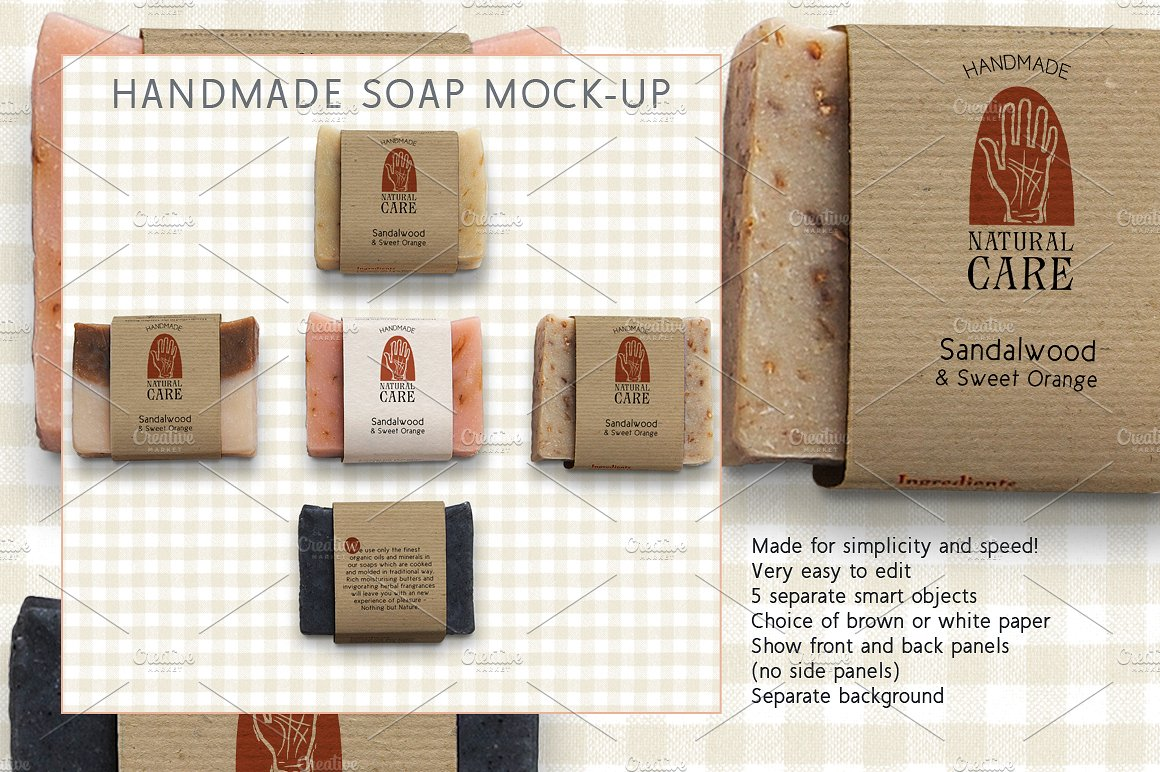 hand made soap label