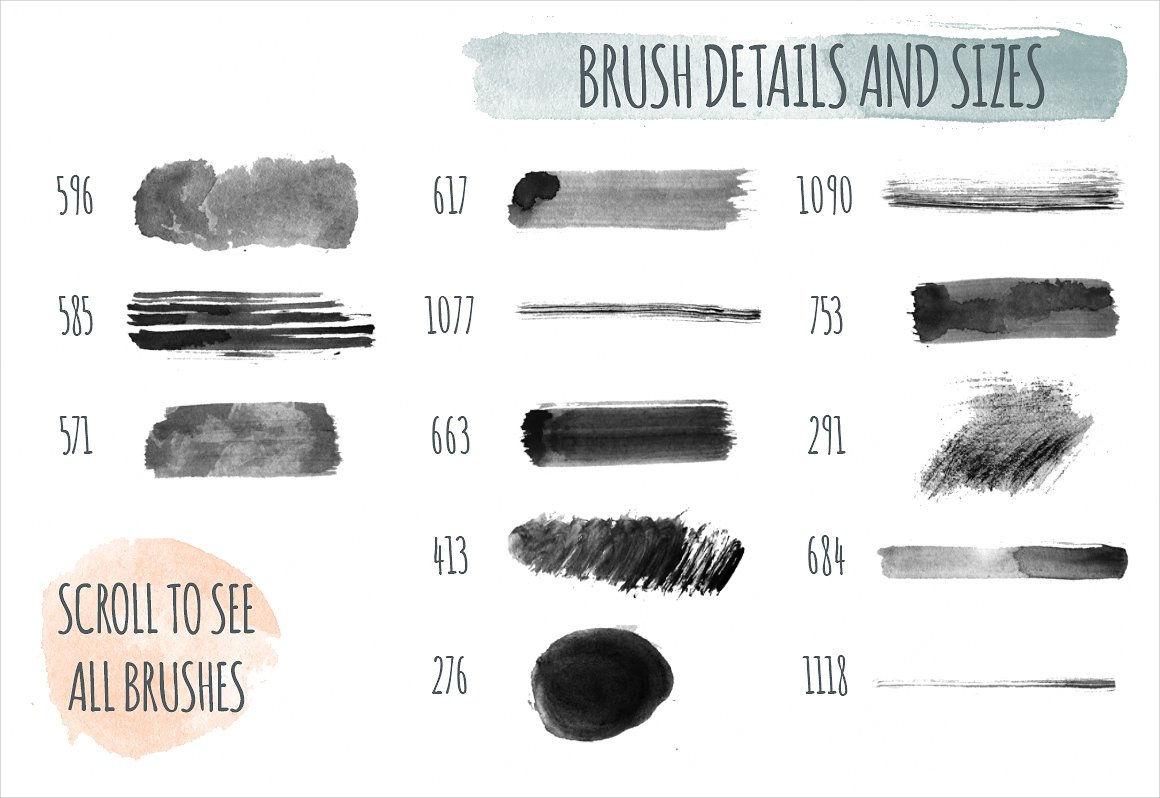 Handmade Watercolor PS Brushes