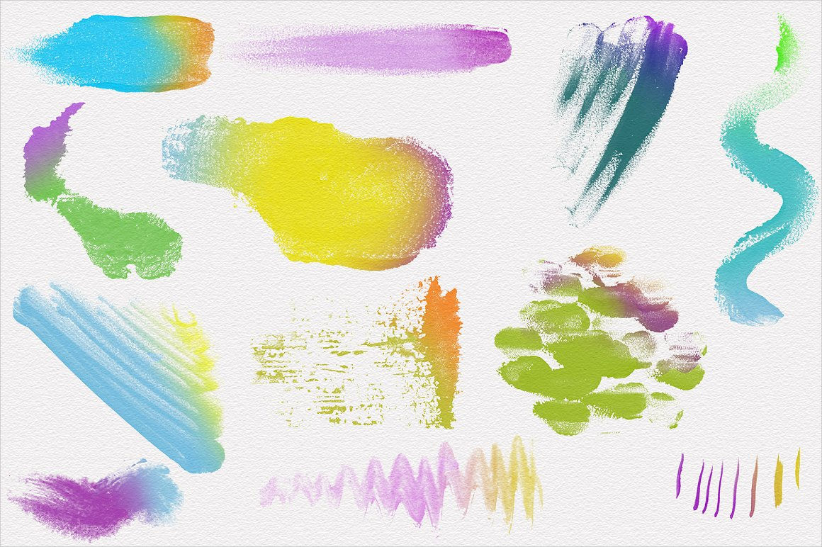 High-Resolution Watercolor Brushes
