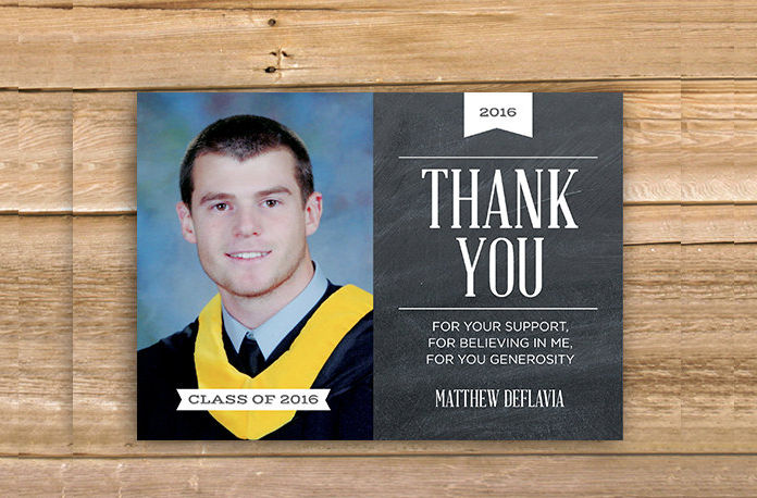 high school graduation thank you card