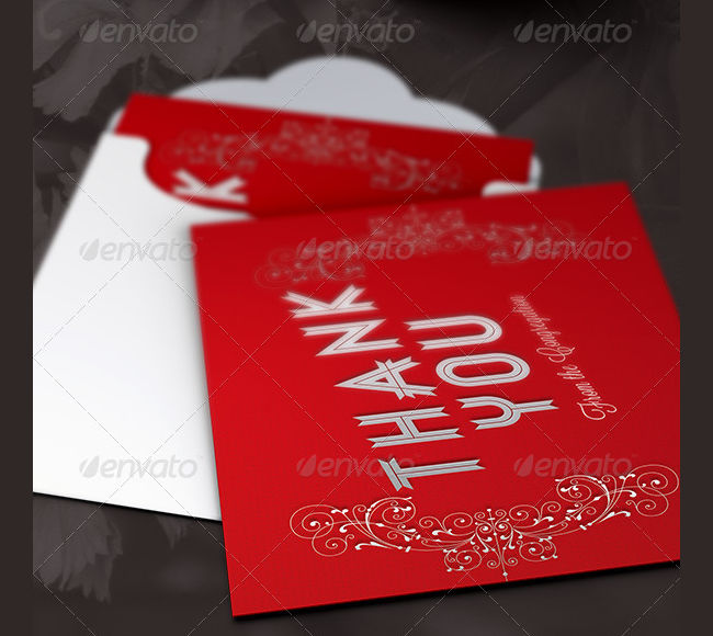 holiday thank you card psd
