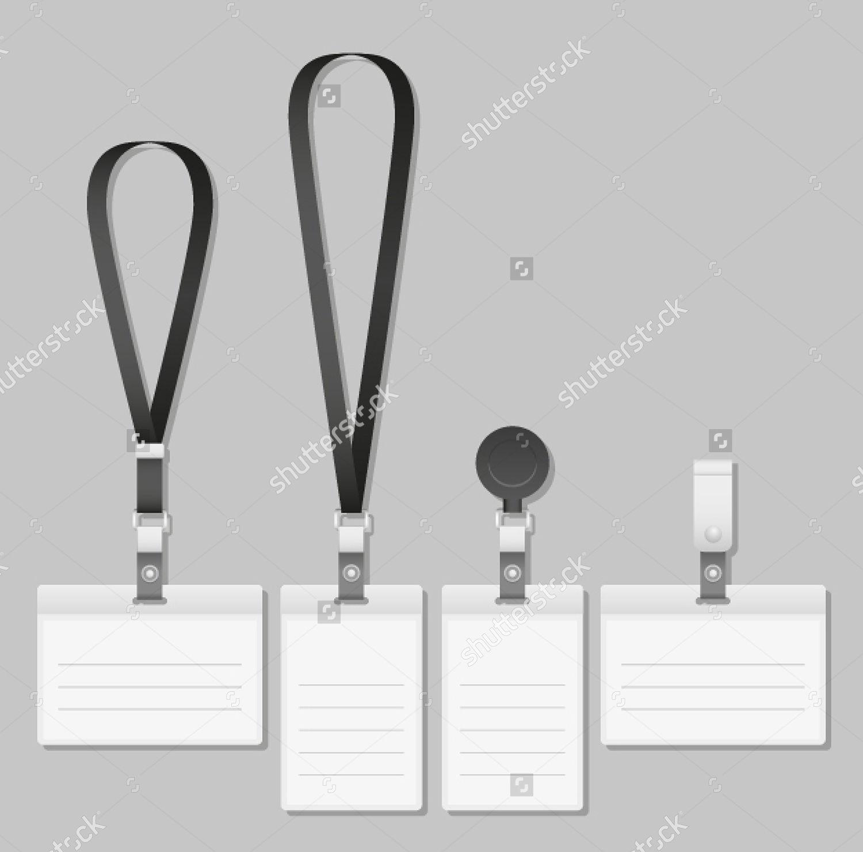 lanyard name tag holder badge