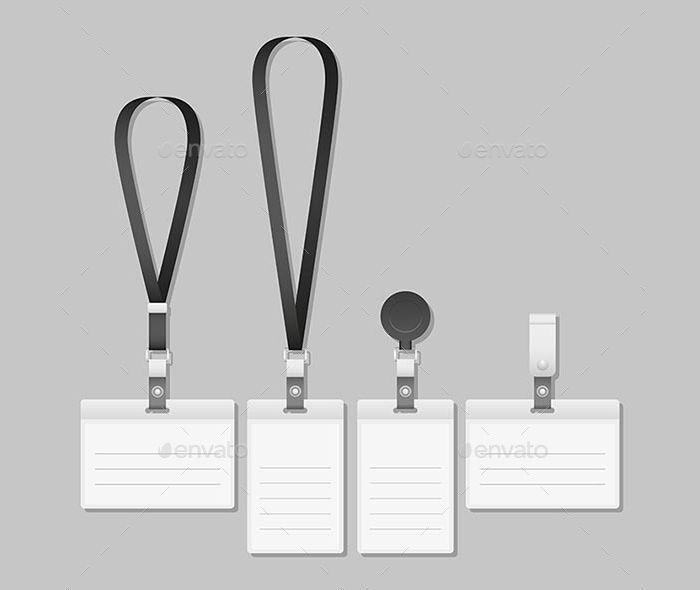 lanyard name tag holder