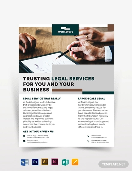 legal services flyer