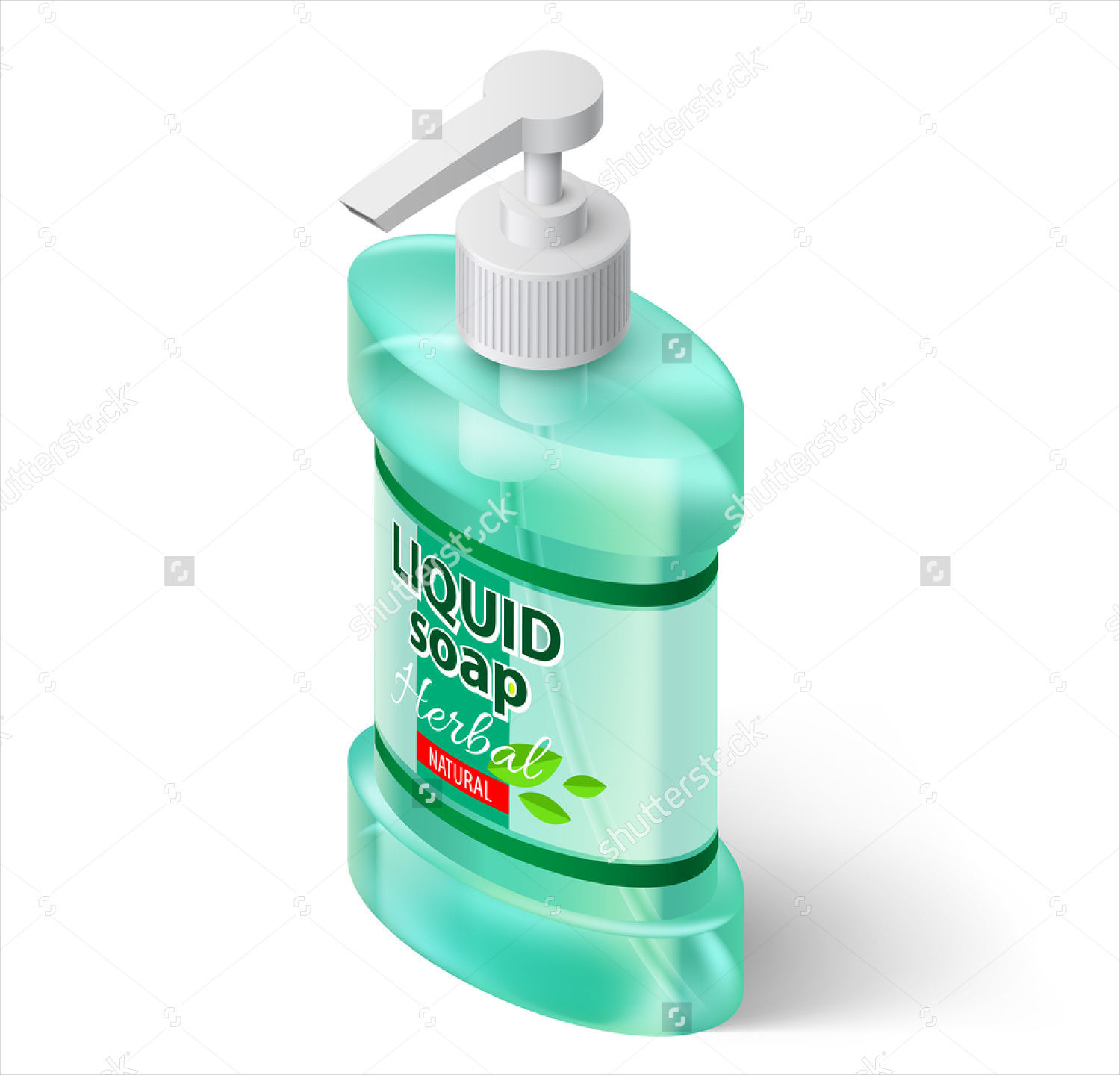 liquid hand soap label design