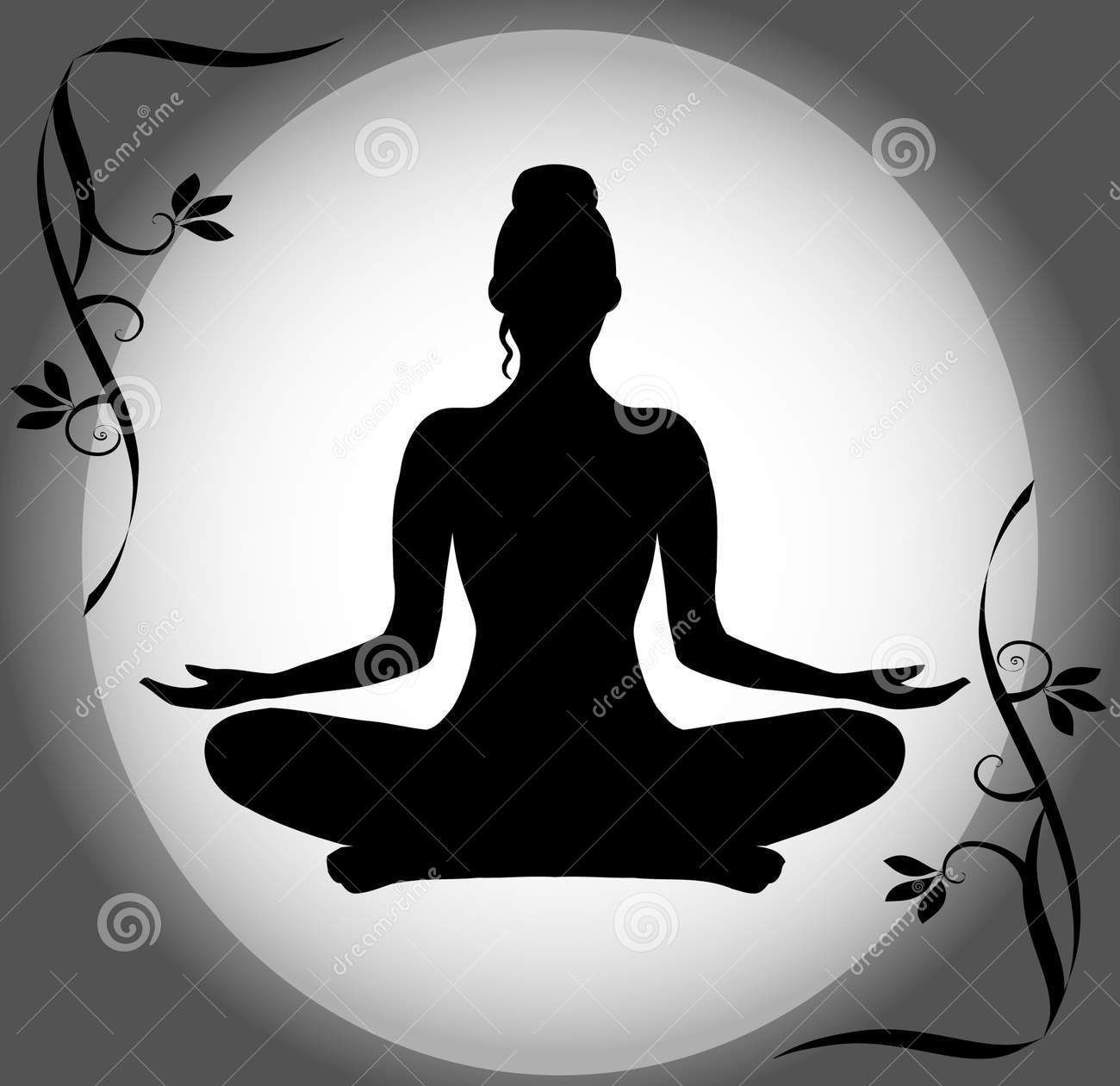 Lotus Position Silhouette