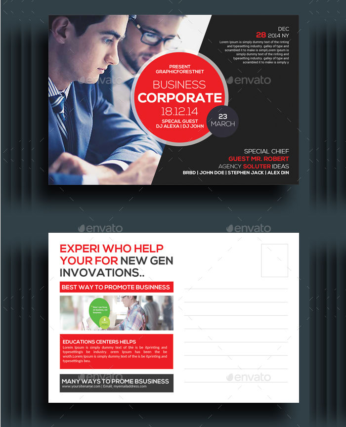 marketing corporate business postcard1