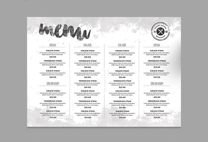 17  minimalist menu designs - ai  psd  google docs