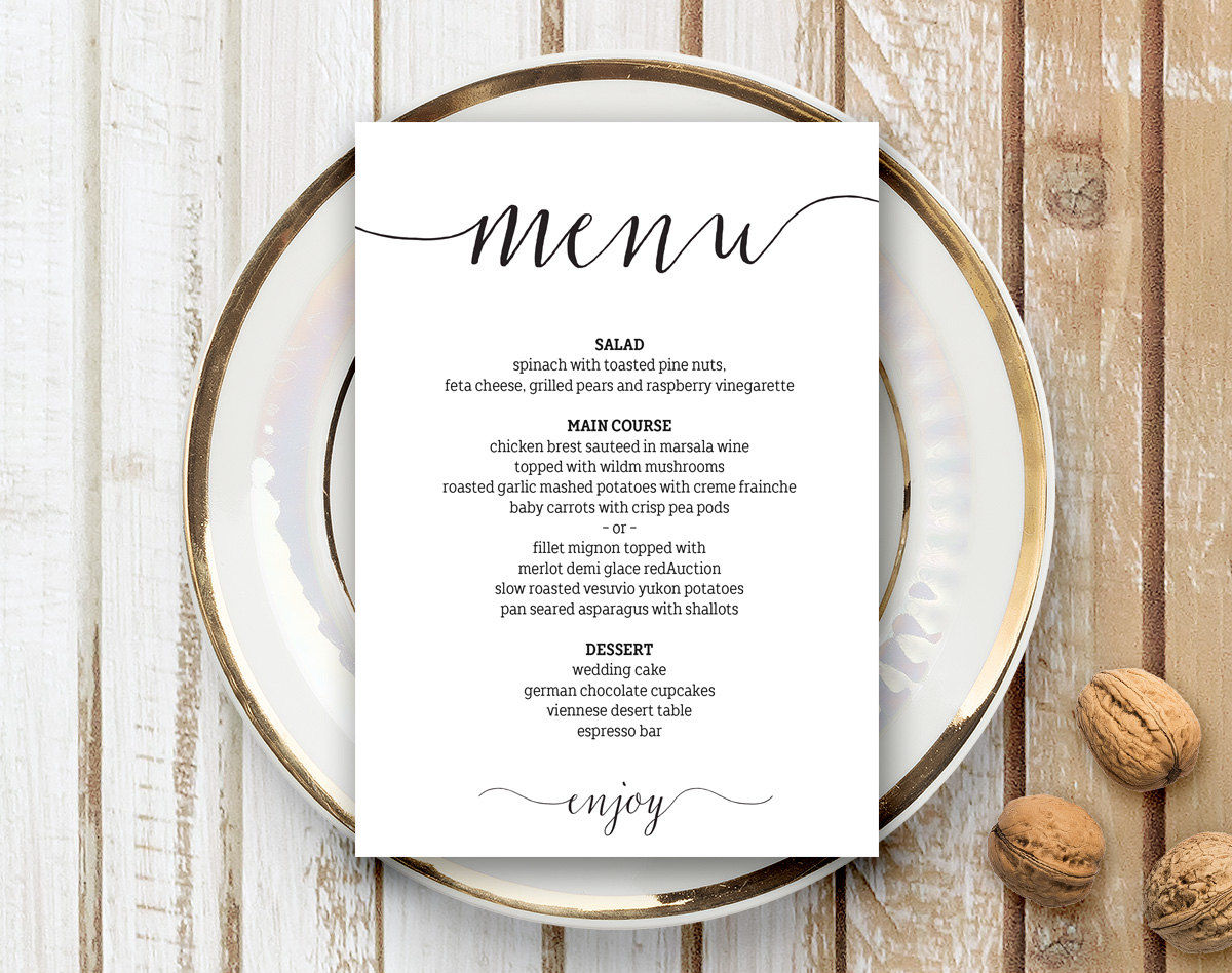 17 Minimalist Menu Designs Design Trends Premium Psd