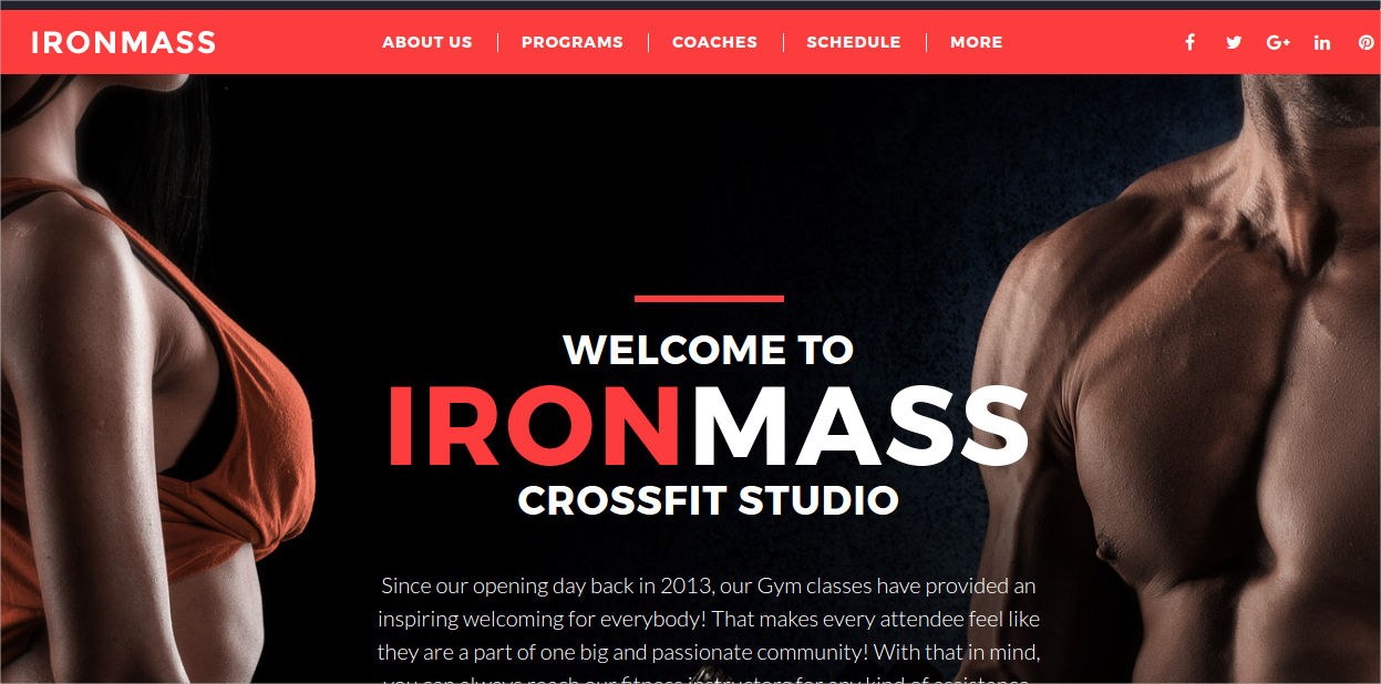 multipurpose gym fitness wp
