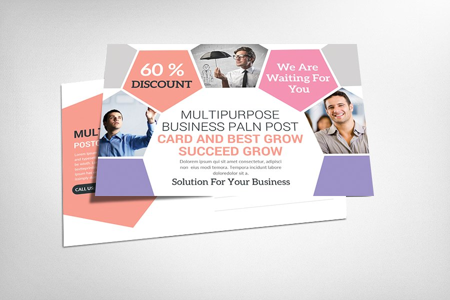 multiuse corporate postcard