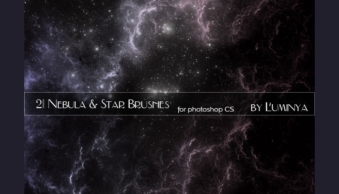 nebula stars brushes
