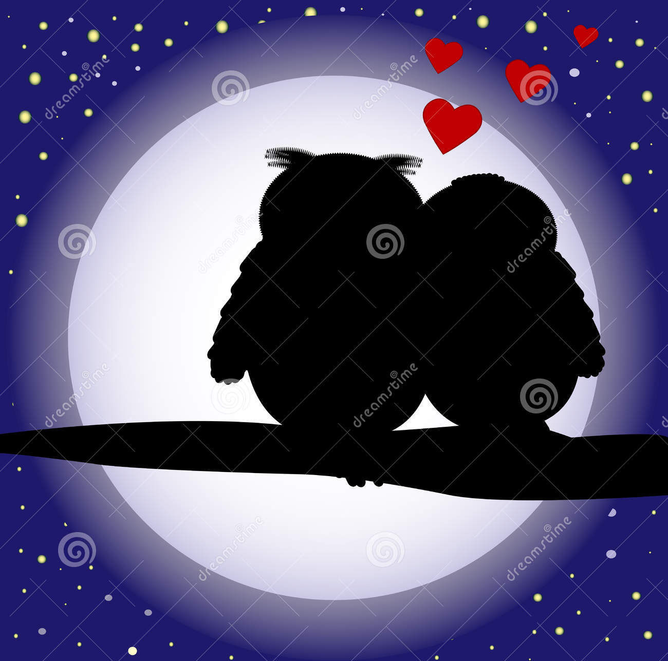 owls love silhouettes