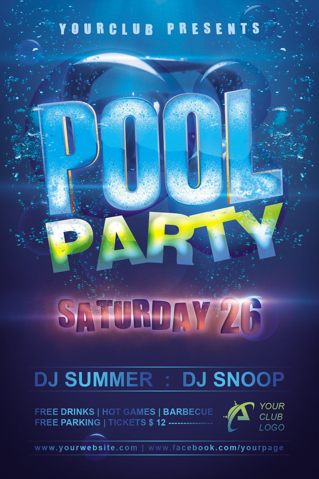 10  pool party flyer designs