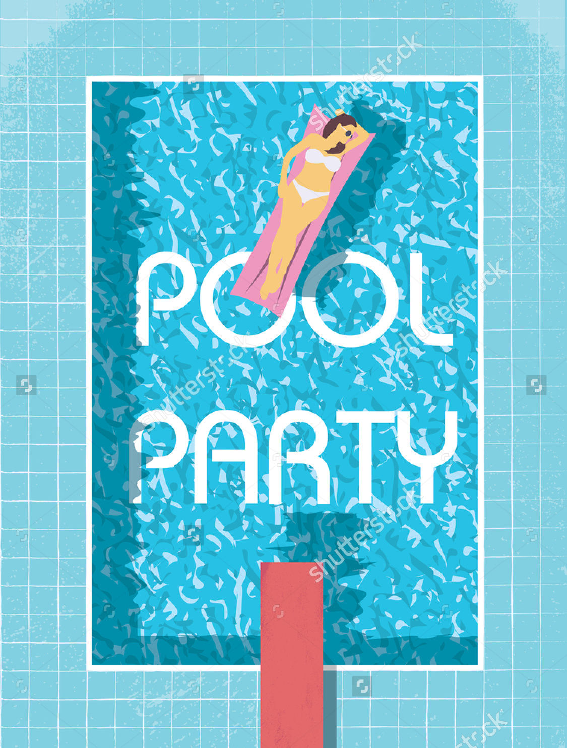 10 pool party flyer designs design trends premium psd for Pool design graphic