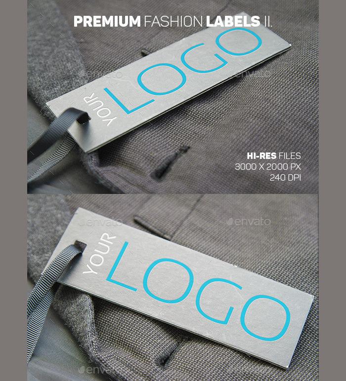 Premium Fashion Label PSD