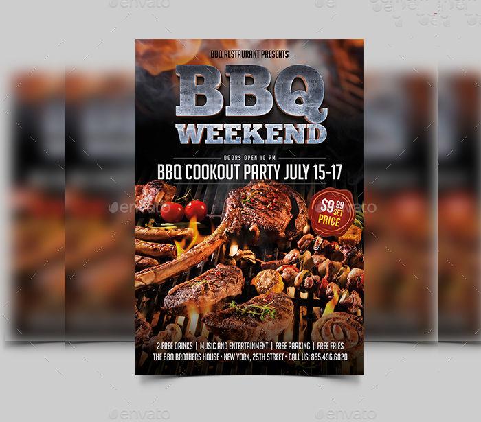 Printable BBQ Flyer
