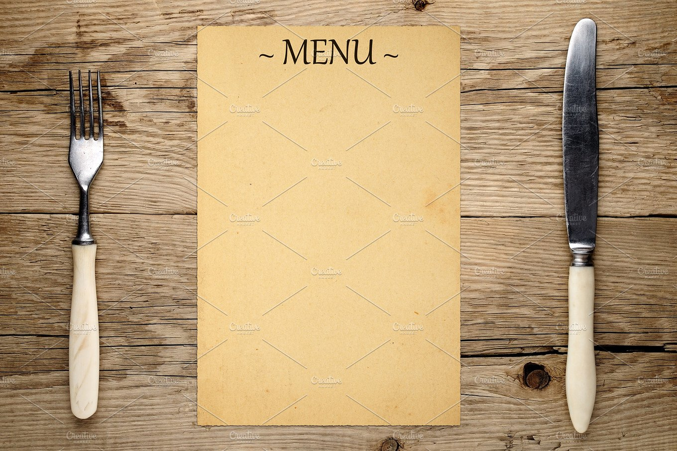 printable blank menu template