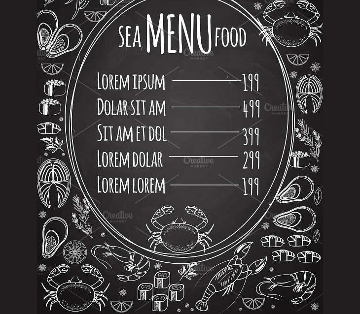 Printable Chalkboard Menu Template
