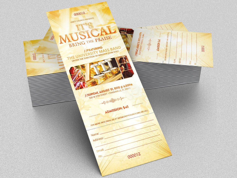 Printable Concert Ticket