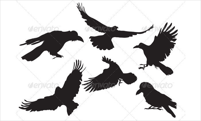 Printable Crow Silhouette