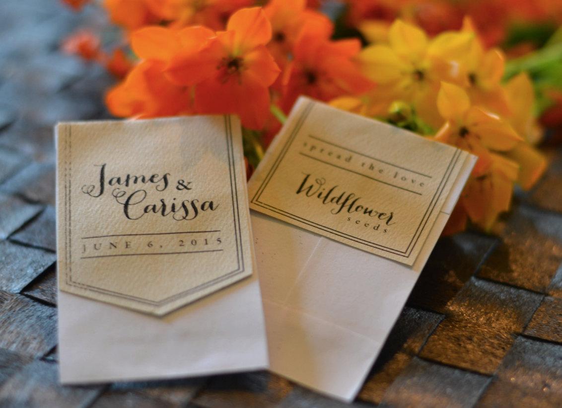 printable wedding label