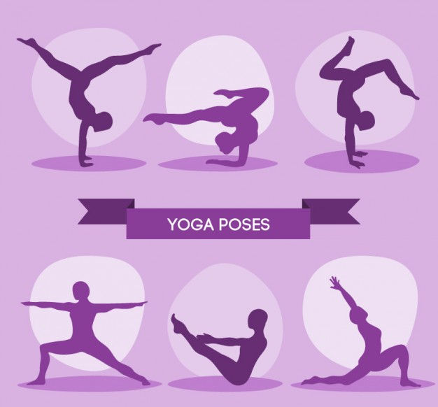 Purple Yoga Silhouette