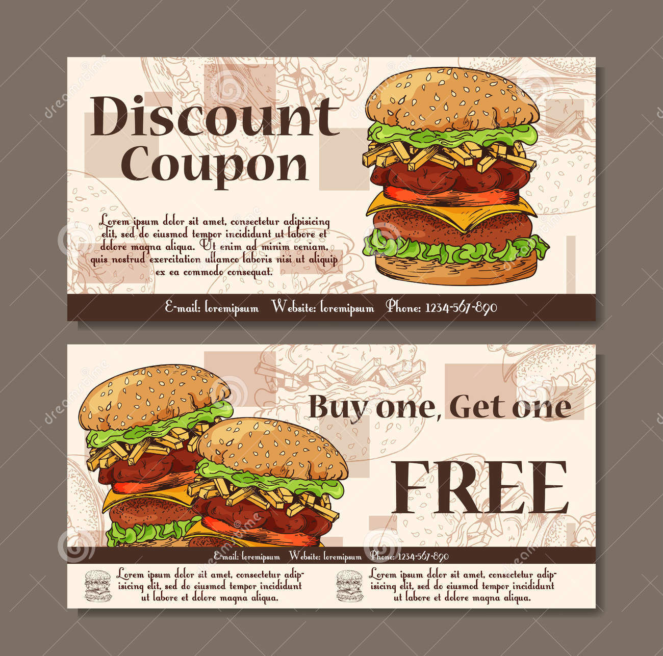 Discount coupons food