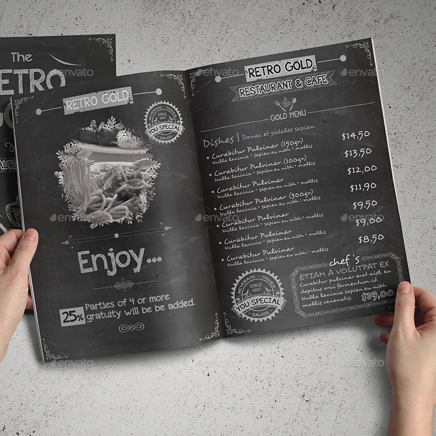 Retro Cafe and Restaurant Menu Pack