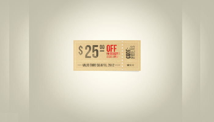 Retro Coupon Template