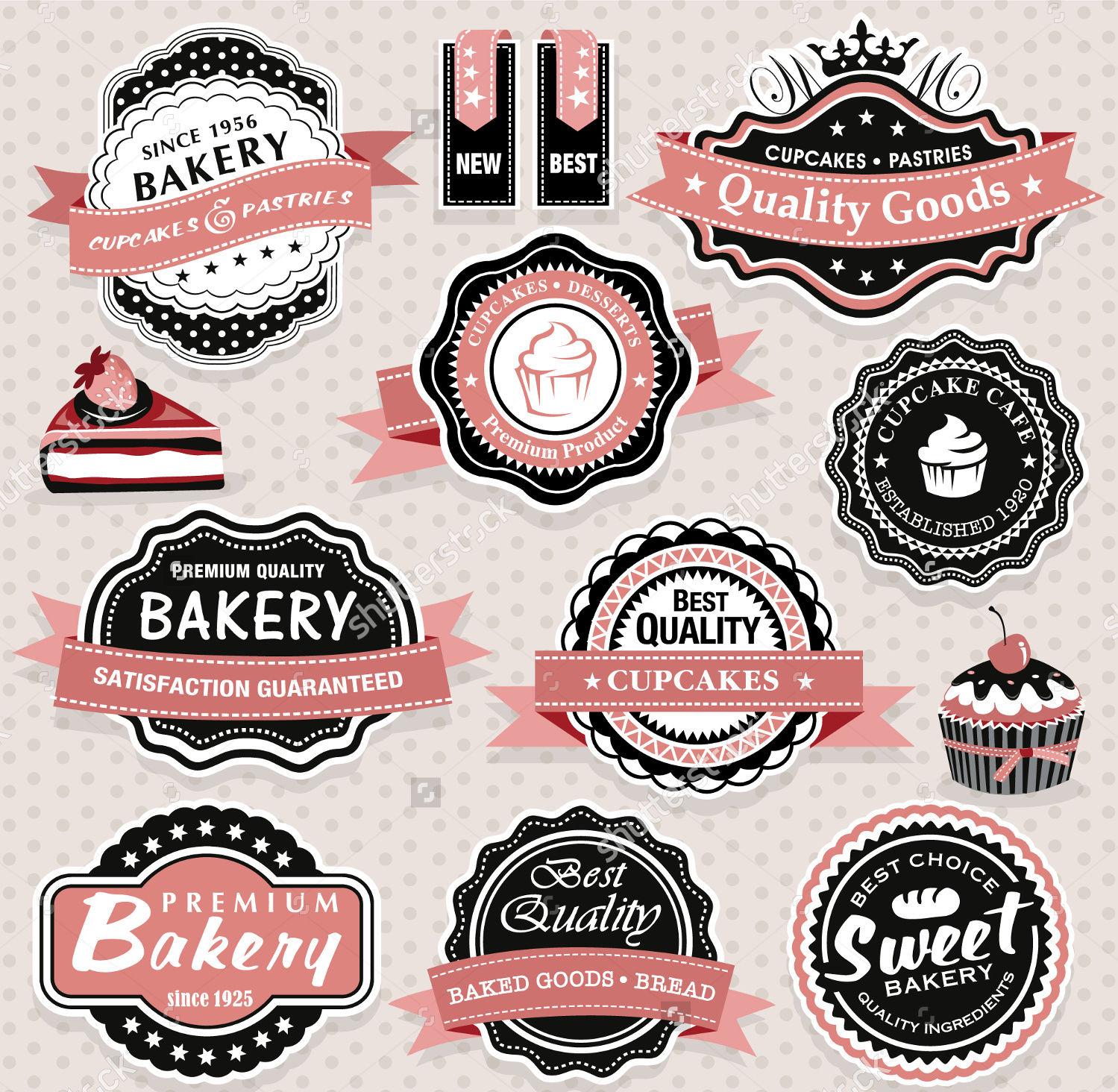retro food label