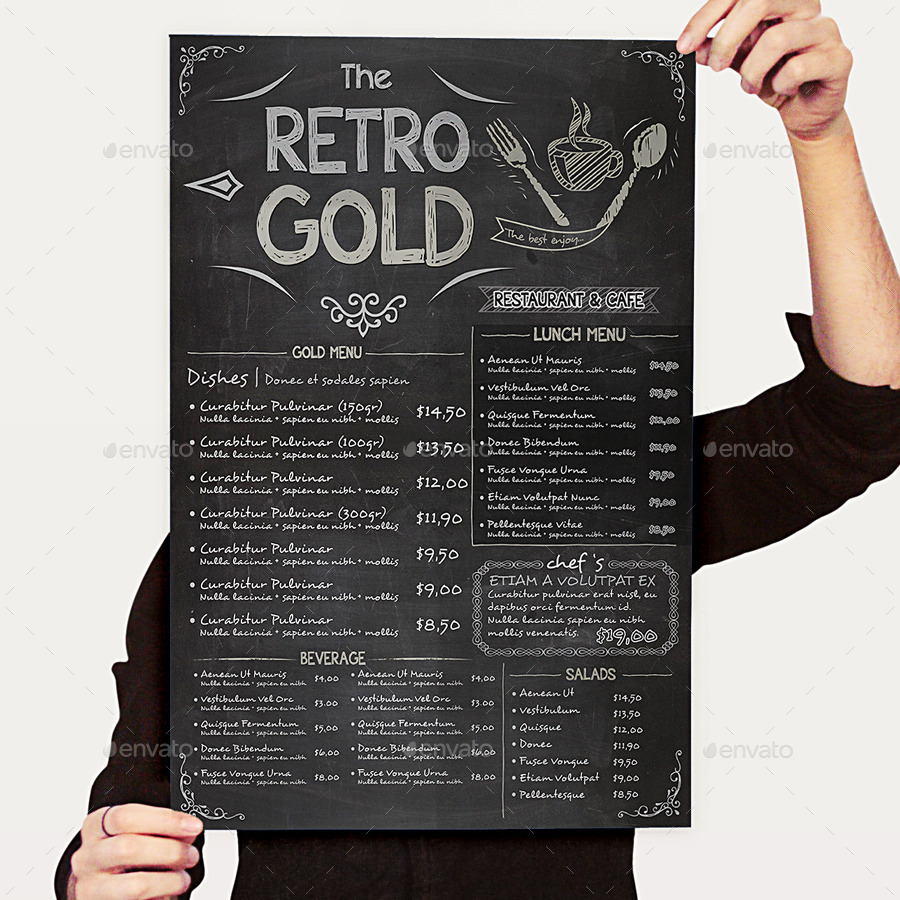 Retro Restaurant Menu