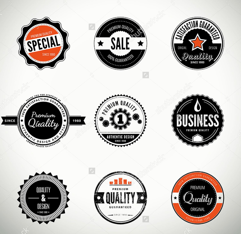 Round badge label design
