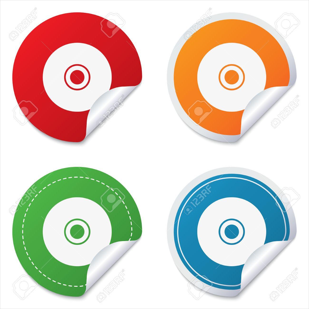 round cd label