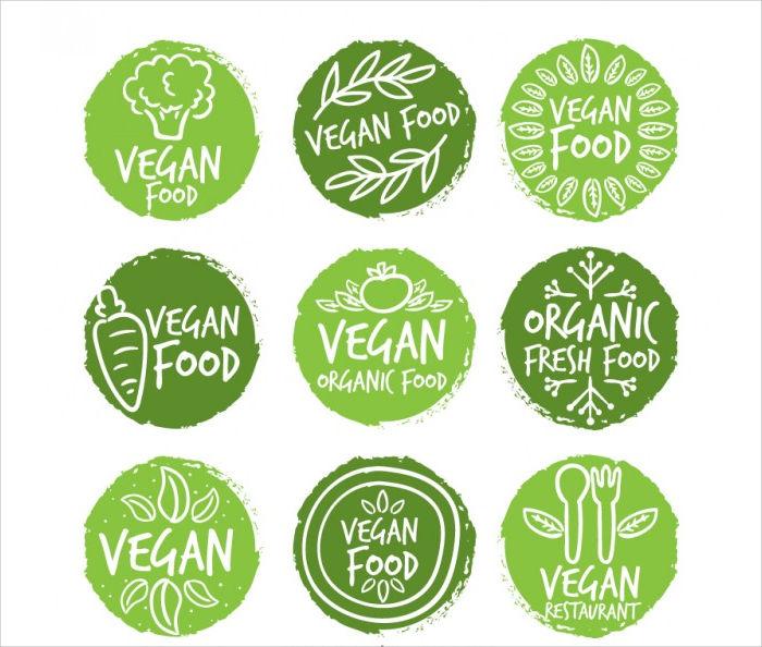 round food label design
