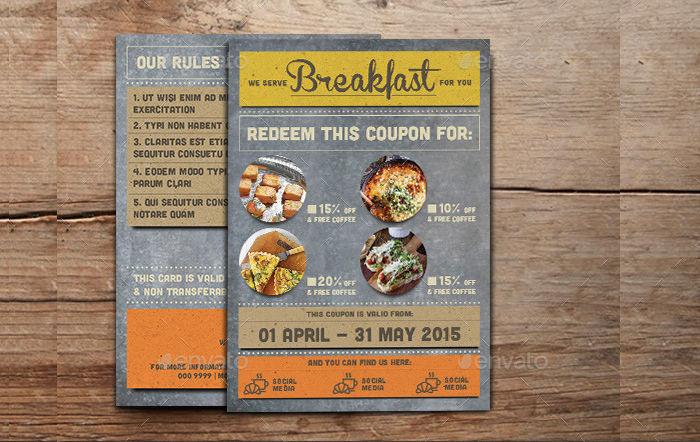Rustic Breakfast Coupon Card