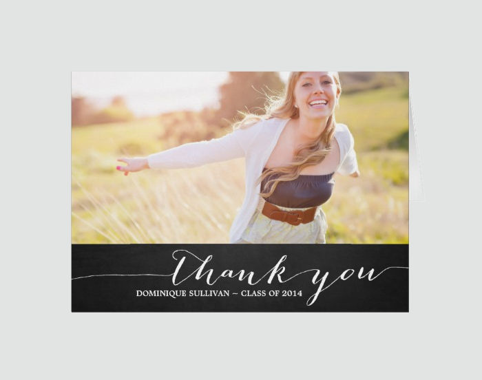Rustic College Thank You Card