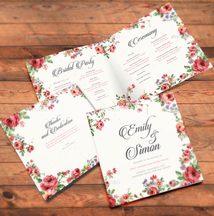 Rustic Floral Wedding Card