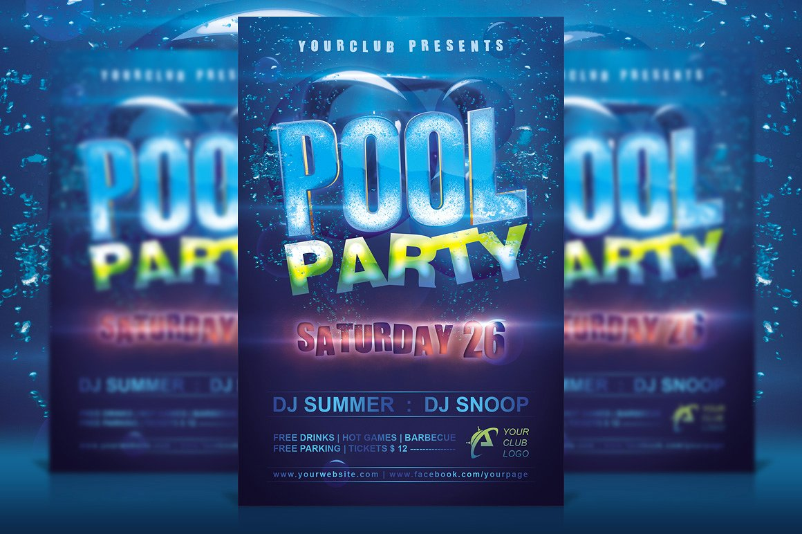 10+ Pool Party Flyer Designs | Design Trends - Premium PSD ...