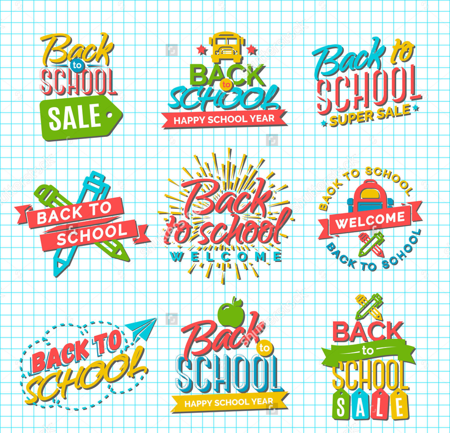 school label sale vector