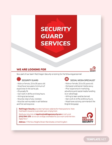security guard services flyer