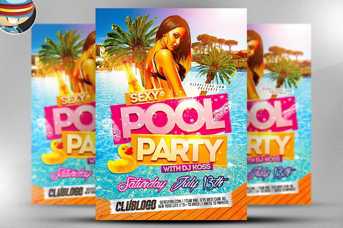 Sexy Pool Party Flyer