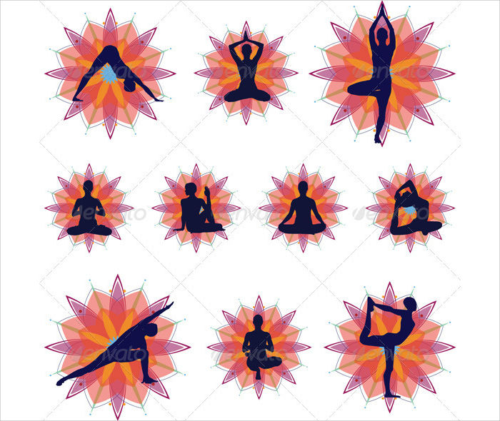 silhouette yoga posture
