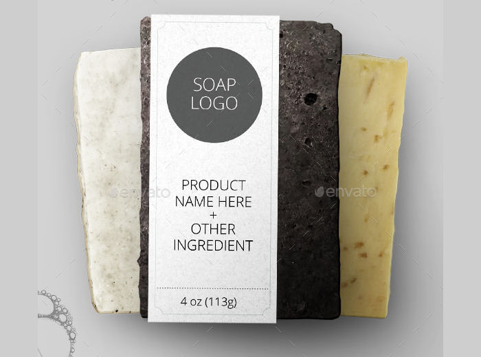 soap bar package label