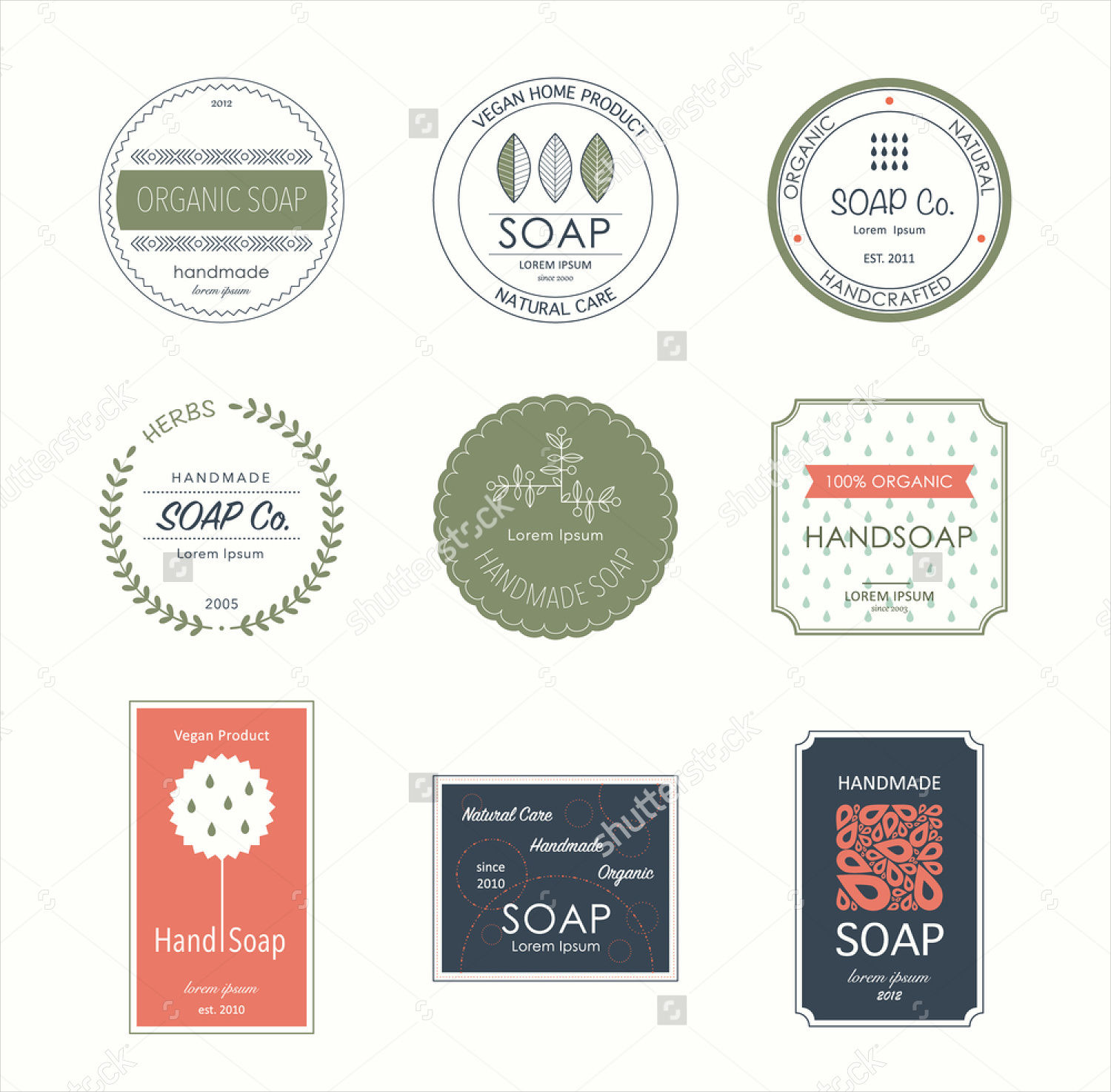 soap label vector